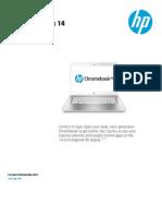 HP Chromebook 14 DataSheet