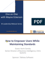 Wayne Eckerson - How to Empower Users While Maintaining Standards