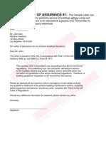 Sample Assurance Letters