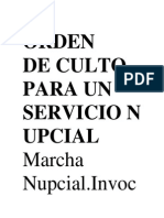 Orden de Culto Especial Para Un Servicio Especialde Aniversario de Una Iglesia
