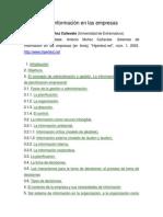 Sistemas de Información en Las Empresas
