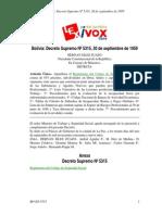 Reglamento del Código de Seguridad Social Bolivia