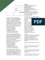 P1 9º Ano - 4 Bim - Hist