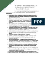propuestas del comit de caicultores de linares a la reunin de delegados a nivel  departamental