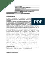 Introducción a La Didactica (Astronomía) Programa