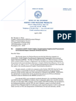 NV Agency for Nuclear Projects comments on DOE's Complex Transformation