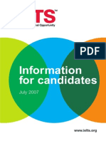 Information for Candidates 2007