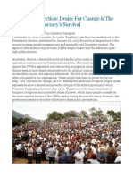 Presidential Election Desire for Change & the Hope for Democracy's Survival