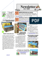 Newsletter July 2008