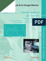 Perturbaciones de Tension Norma en 50160