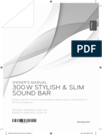 LG Soundbar Manual