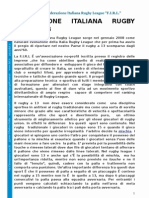 FEDERAZIONE ITALIANA RUGBY LEAGUE ATTIVITA 2008