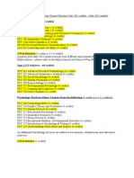 Bpsych Course Structure Jan 11 - Sept 11
