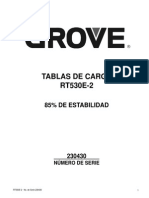 Grua Grove 530e 2 Tabla de Carga