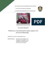 Plan de Negocios en Pro y Comer. de Quinua Organica