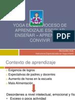 Yoga en El Proceso de Aprendizaje Escolar