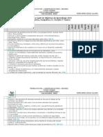 Carta Gantt de Objetivos de Aprendizaje 2014 Para 2015. historia 5°