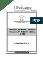Sentencia del Pleno Casatorio - Casacion N° 3189 - 2012 - LIMA NORTE