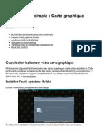 Overclocking Simple Carte Graphique Nvidia 25158 n6vrvx