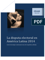 La Disputa Electoral en América Latina 2014 CELAG