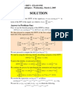 Exam 1 DSP S2005 Solution