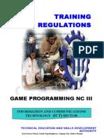 TR Game Programming NC III