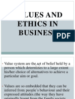Values and Ethics in Business