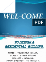 presentation on design a residential building by yogendra kumar
