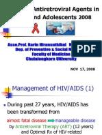 Update of Antiretroviral Agents In