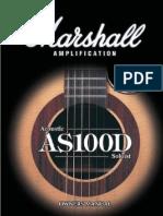 Marshall AS100D manual