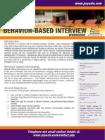 PsyAsia International's Behavior Based Interview Workshop