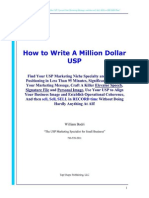 How to Create Your Million Dollar USP - User