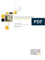 Statewide Science Education Reform