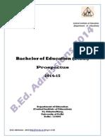 B.ed. Prospectus 2014