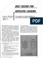 Bolt Design for Repeated Loading