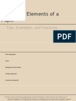 Structural Elements of a Paper Presentation