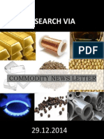 Revia Commodity Newsletter