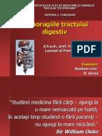 Hemoragiile tractului digestiv