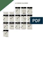 Tabela de Acordes Maiores; Menores, Com 5, 6 ,7, 9