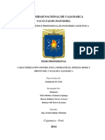 Caracterización Geomecánica Mediante El Sistema Hoek Y Brown Del Valle de Cajamarca.