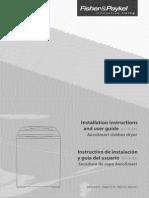 Fisher Paykel DE27C Dryer Users Manual