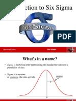 Six Sigma 1 Intro