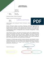 Surat Persetujuan Ortu