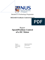 ME2142E Speed or Position Control of a DC Motor
