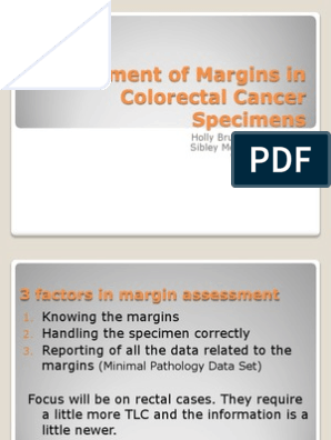Colorectal Margin Presentation Colorectal Cancer Large Intestine