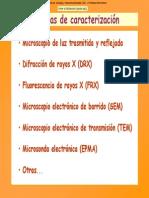 Tecnicas de Caracterizacion Mineral Transparencias