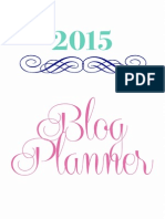 2015 Blog Planner