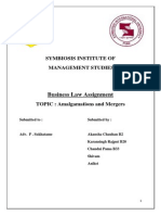 Amalgamations and Mergers - Law