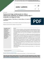 Factores de riesgo cardiovascular en niños y adolescentes españoles con diabetes mellitus tipo 1