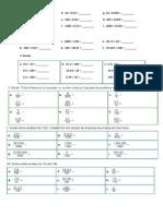 Decimal Multiplication and Division
